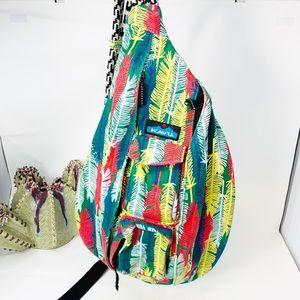 Kavu Shoulder Sling Feather Print Backpack Bag